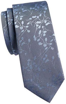 Calvin Klein Leaf Garden Silk Tie