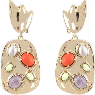 Alexis Bittar Sculptural Stone Cluster Clip Earring