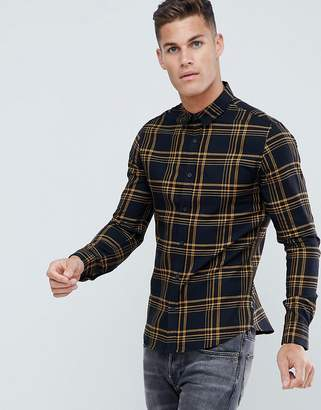ONLY & SONS Shirt With Grid Check In Slim Fit