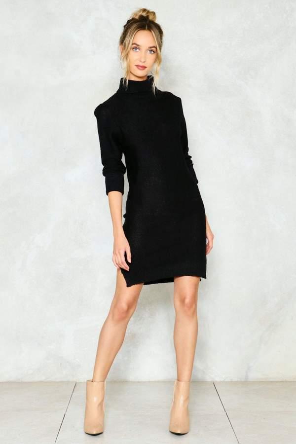 nastygal Warm Up Turtleneck Sweater Dress