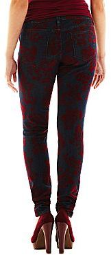 JCPenney Decree® Flocked Super Skinny Jeans