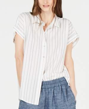 Eileen Fisher Striped High-Low Top, Regular & Petite