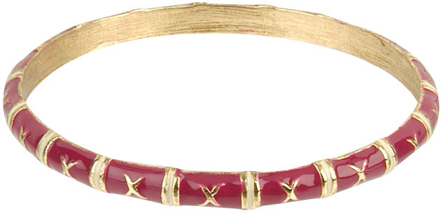 Bamboo Sectioned Lacquered Bracelet