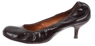Lanvin Patent Leather Round-Toe Pumps