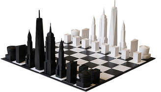 One Kings Lane New York City Chess Set - Black/White