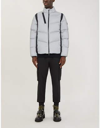 Moncler Leblanc reflective shell-down hooded jacket