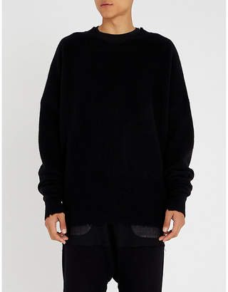 Unravel Boiled waffle-knit wool and cashmere-blend jumper
