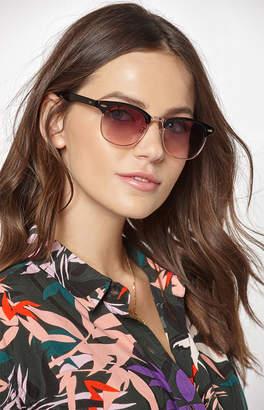 La Hearts Half Rim Sunglasses