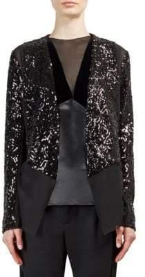 Lanvin Sequin Paneled Jacket