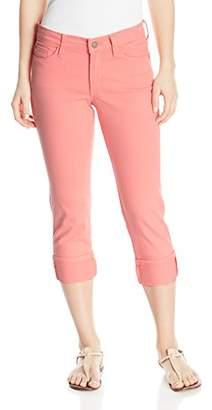 NYDJ Women's Petite Size Dayla Wide Cuff Capri Jeans in Colored Bull Denim