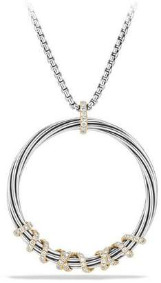 David Yurman Helena Large Pendant Necklace with Diamonds