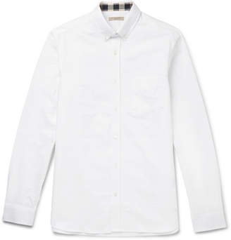 Burberry Brit Button-Down Collar Cotton Shirt - Men - White
