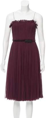 J. Mendel Embellished Strapless Dress