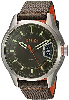 HUGO BOSS BOSS Orange Men's Quartz Stainless Steel and Leather Casual Watch