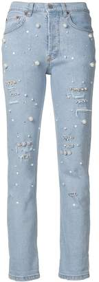 Couture Forte Dei Marmi pearl embellished jeans