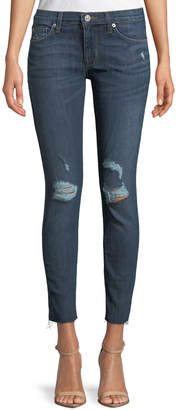 Hudson Krista Distressed Skinny Ankle Jeans