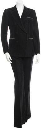 Giambattista Valli Double-Breasted Linen Pantsuit $180 thestylecure.com