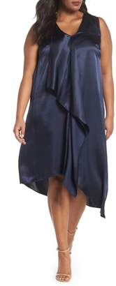 Adrianna Papell Asymmetrical Trapeze Dress