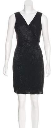 Diane von Furstenberg Beaded Knee-Length Dress