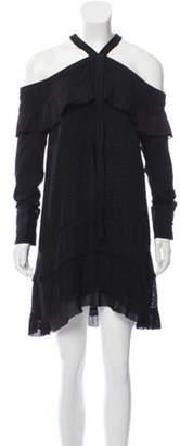 Proenza Schouler Off-The-Shoulder Silk-Blend Dress Black Off-The-Shoulder Silk-Blend Dress