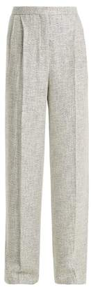 The Row Hester High Rise Wide Leg Trousers - Womens - Grey Multi
