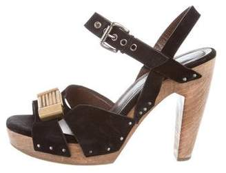 Marni Suede Ankle Strap Sandals