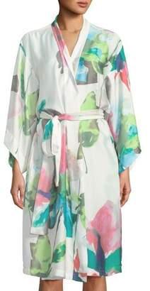 Natori Water Lily Satin Robe
