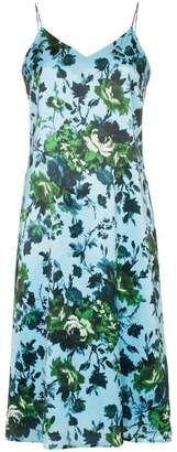 Erdem Vivianne floral print silk slip dress