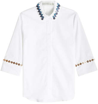 Mary Katrantzou Rita Embellished Cotton Shirt