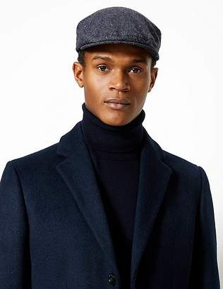 Marks and Spencer Wool Blend Flat Cap 6ff4ec504d6
