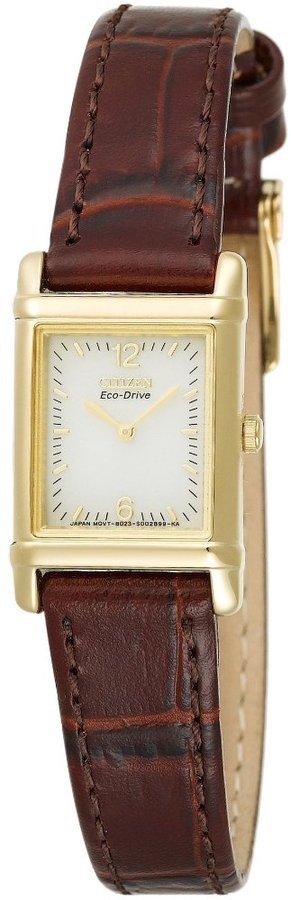 Citizen Women's EW8282-50P Eco-Drive Leather Strap Gold-tone Watch