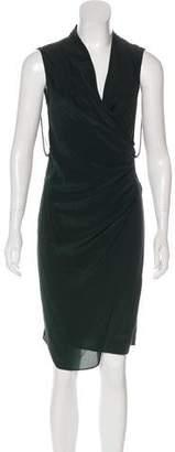 AllSaints Surplice Midi Sleeveless dress