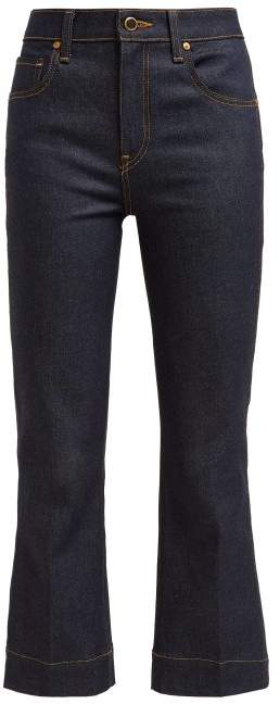 Khaite - Fiona Mid Rise Kick Flare Jeans - Womens - Denim