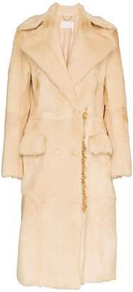 Chloé long lapel kidskin shearling coat