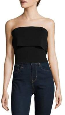Catira Knit Popover Cropped Top