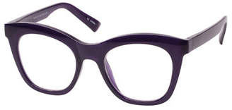 Cat Eye The Book Club Harlot's Bed Blue Block Cat-Eye Reading Glasses