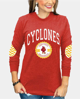 Couture Gameday Women Iowa State Cyclones Elbow Patch Long Sleeve T-Shirt