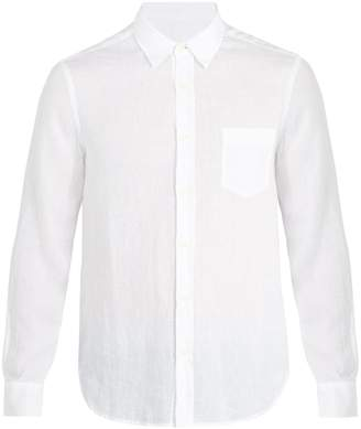 120% Lino 120 LINO Patch-pocket linen shirt
