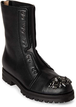 Jimmy Choo Black Hatcher Embellished Combat Boots