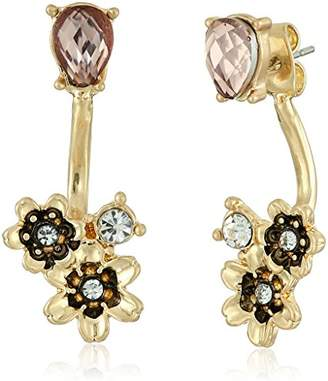 lonna & lilly Gold-Tone and Flower Floater Earrings Jacket
