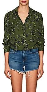 L'Agence Women's Nina Floral Silk Blouse - Green