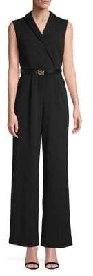 Calvin Klein Sleeveless Belted Jumpsuit