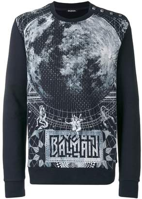Balmain graphic print sweater