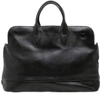 Officine Creative Brushed Leather Duffle Bag