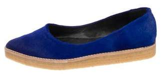 Pierre Hardy Ponyhair Pointed-Toe Flats