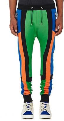 Balmain BALMAIN MEN'S COLORBLOCKED COTTON JOGGER PANTS $910 thestylecure.com