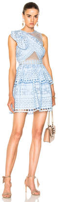 Self-Portrait Shoulder Knot Mini Dress