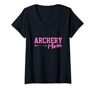 Womens Archery Mom Bow Hunting Gear And Archery Gift V-Neck T-Shirt