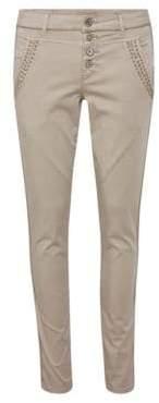Cream Bailey Cargo Pants