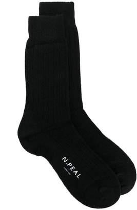 N.Peal Mens Plain Short Socks